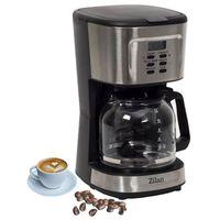 Zilan Kaffeemaschine | Filterkaffeemaschine | Kaffeefiltermaschine | Timer | 12 Tassen | Edelstahldesign | Tropfstopf | 900 Watt | Abschaltautomatik |
