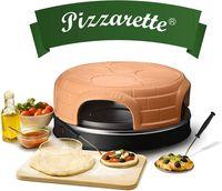 Emerio PO-115847.1 4-Persoons Pizzarette Terracotta/Zwart.