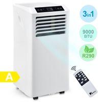 Juskys Lokales Klimagerät MK950W2 mit Fernbedienung & Timer - 2,6 kW – 3in1 Klimaanlage zur Kühlung, Ventilation, Entfeuchtung - Energieklasse A