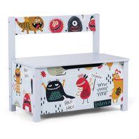 Baby Vivo Spielzeugtruhe und Sitzbank mit langsam schließendem Deckel