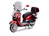 Retro Roller Motorroller EasyCruiser dunkelrot 50 ccm - 45 Km/H