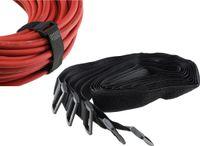 Klettband mit Öse, 5er Pack 80x3cm, schwarz