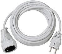 Brennenstuhl Qualitäts-Kunststoff-Verlängerungskabel 5m weiß H05VV-F 3G1,5, 1168440