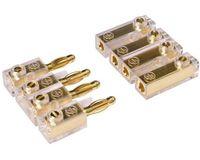 Car-Hifi Soundboard Stecker Verbinder 4-polig,vergoldet