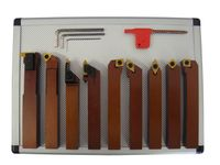 PAULIMOT Drehmeißel-Set mit Wendeplatten, 16 mm, 9-teilig