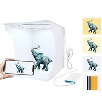PULUZ Faltbare Fotostudios Box Fotografieren Zelt Light Box Mini Tragbare Faltbare Fotografie Beleuchtungsset mit 6 Farben Hintergründe