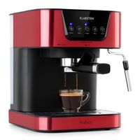 Klarstein Arabica Espressomaschine ,Leistung: 1050 Watt ,15 bar ,Touch-Bedienfeld ,abwaschbares Tropfgitter ,abnehmbarer Wassertank ,bewegliche Aufschäumdüse ,LED-Digital-Display ,Tassenwärmer ,Edelstahl ,Rot
