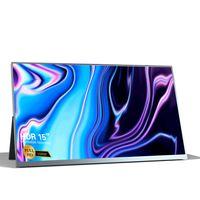 T-bao T16A 15 '' tragbarer Monitor mit HD 1080P IPS Panel Support Bildschirmerweiterung für Switch / PS3 / PS4 / PC / Laptop EU-Stecker