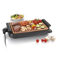 GOURMETmaxx Beef Grill BBQ Tisch Elektro Balkon Garten rauchfrei 220 °C schwarz
