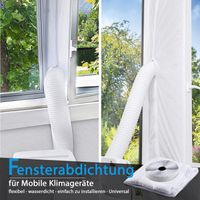 TOPOWN 300cm Fensterabdichtung Für Mobile Klimageräte, Fensterabdichtung klimagerät, Fensterabdichtung klimaanlage, Einfache Installation Kein Bohren erforderlich (DHL Lieferung innerhalb von 4 Tagen)