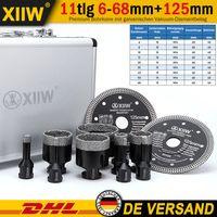 XIIW® 3 Tage Ankommen 11tlg Diamantbohrkrone Fliesenbohrer 6-68mm Trennscheibe 125mm Winkelschleifer