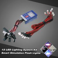 12 LED-Beleuchtungssystem Kit Lenkbremse Smart-Simulation-Blitz-Lichter fuer 1/10 Scale Models RC Car Yokomo Tamiya HSP HPI AXIAL RC4WD Traxxas