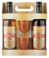 Wikinger Met rot & gelb 2x0,75L 6%+11% (inkl. 2 Trinkbecher)