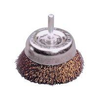 LESSMANN Flächenbürste Drahtbürste Bürste für Bohrmaschine Ø 75mm Ausführung:Messing, Größe:75.0 mm