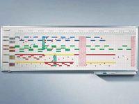 Legamaster Legamaster Jahresplaner PROFESSIONAL 75 x 150 cm (B x H) 5-Tage-Woche 50 Mitarbeiter/Projekte Boardmarker Aluminium weiß