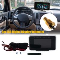 12V / 24V Auto LCD Wassertemperaturmesser Thermometer Voltmeter Anzeige 2in1 Sensor WSB90809635
