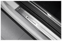Edelstahl Exclusive Einstiegsleisten für VW Tiguan 2 AD1 4Motion ab Bj. 2016-, Farbe:Silber