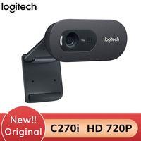 Logitech C270i 720P Webcam IPTV HD PC Mini Kamera Gebaut-in Mikrofon USB 2,0 Freie antriebs Webcam für PC Laptop
