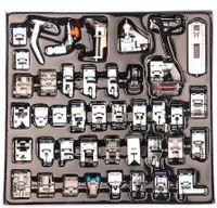 42-teiliges professionelles Haushaltsnähmaschinen-Nähfuß-Kit-Set für Bruder, Baby Lock, Sänger, Elna, Toyota, New Home, Simplicity, Janome, Kenmore und White Low Shank-Nähmaschine