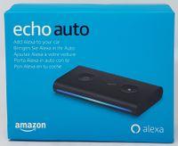 Amazon Echo Auto Smart Speaker, Amazon Alexa Sprachsteuerung, Schwarz