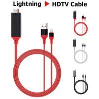 Lightning zu HDMI TV Screen Display 1080p Adapter Kabel - 2M , Schwarz