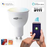 Caliber Smart Home App gesteuerte HWL5201 LED-Leuchtmittel GU10 EEK: A+ (A++ - E) Alexa, Google Home, IFTTT Tuya kompatibel