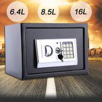 6.4L Elektronischer Safe Tresor Feuerfest Möbeltresor Geldschrank Wandtresor Wandsafe Digital & Schlüssel