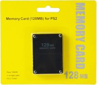 Generic Store 128MB Memory Card for Sony PlayStation 2 PS2 128M Black