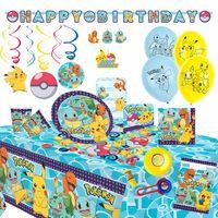 XXL Party Set | Pokemon | 91-teilig | für 8 Personen | Kinder Geburtstag