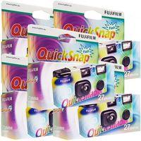 5x Photo Porst Fujifilm Quicksnap Flash Einwegkamera, 27 Bilder, mit Blitz
