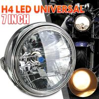 """7"""" Motorrad Scheinwerfer H4 Birne Rund Lampe 35W Für Honda Für Suzuki Für Yamaha"""