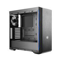 Cooler Master MasterBox MB600L - Midi Tower - PC - Kunststoff - Stahl - Schwarz - Blau - ATX,Micro A Cooler Master