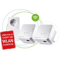 devolo Magic 1 WiFi mini: Kompaktes Multiroom Kit für zuverlässiges raumübergreifendes WLAN einfach via Stromleitung durch Wände und Decken, Mesh, G.hn-Technologie, Gäste-WLAN, Farbe:Weiß