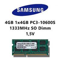 SAMSUNG Samsung 4GB (1x 4GB) DDR3 1333MHz (PC3 10600S) SO Dimm Notebook Laptop Arbeitsspeicher RAM Memory