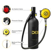 1L Diving Mini Scuba Cylinder Sauerstoff-Lufttank Unterwasser-Atemgerät Pumpe