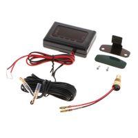 12v-24v Auto Voltmeter Wassertemperaturanzeige Meter Mit Sensor Mit digitaler Anzeige, Intuitive Beobachtung Größe 10mm