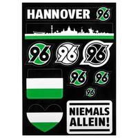 Hannover 96 Aufkleberkarte schwarz