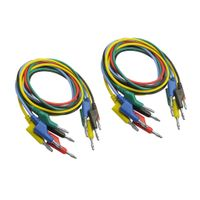 10 x Multimeter Kabel Set, Bananenstecker auf Bananenstecker Kabel