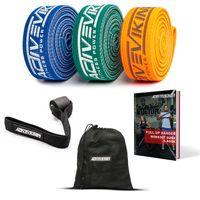 ActiveVikings® Middle Pack - Pull-Up Stoff Fitnessbänder - Perfekt für Muskelaufbau und Crossfit Freeletics Calisthenics - Fitnessband Klimmzugbänder Widerstandsbänder