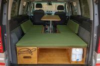 Campingbox Heckküche Schlafsystem Campingküche Bettfunktion  VW Van Bus Typ 119 Mayaadi Home