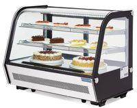 Polar 160Ltr Umluft Kühlvitrine f Desserts Kuchen Brötchen n Getränke