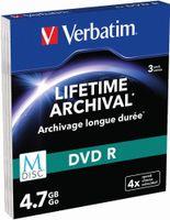 Verbatim 4.7GB DVD-R - DVD-R 4x - 4.7 GB 120min - 3er Slim Case