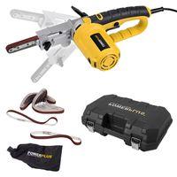 Powerplus Elektrofeile 400 Watt Powerfeile + Koffer + 10 x Schleifbänder