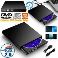 Miixia Externes DVD Laufwerk USB Brenner Slim CD DVD±RW brenner für PC Laptop Notebook
