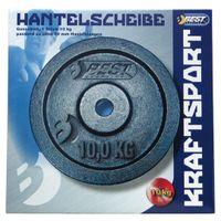 Best Sporting Hantelscheiben aus Gusseisen, verschiedene Gewichtsausführungen, Gewicht:1 x 10 kg