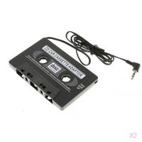 2x Auto Stereo Cassette Tape Adapter Für IPod IPhone MP3 AUX CD Player 3.5mm