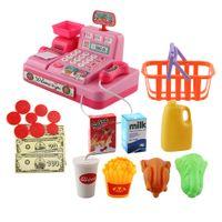 Rollenspiel Kids Store Pretend Play Registrierkasse Spielzeug Rosa Kasse 17,5 x 12 x 13 cm Kinder geben vor, Spielzeug zu spielen