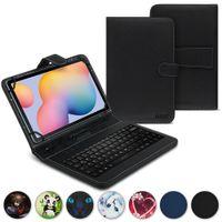 Tasche für Samsung Galaxy Tab A7 Keyboard Hülle Tastatur Schutzhülle QWERTZ, Farben:Schwarz