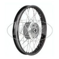 Speichenrad 1,5x16 Zoll Alufelge schwarz eloxiert und poliert + Chromspeichen