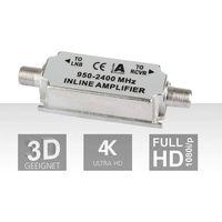 Inline-Verstärker, 20dB, silber-weiß (Inline-Verstärker)